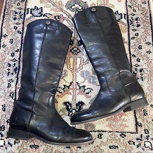 black Frye Melissa button lug tall equestrian boot